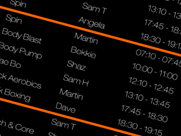 Class Timetable & Online Booking